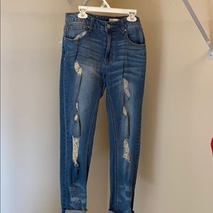 Altar'd state stretch distressed jeans size 25